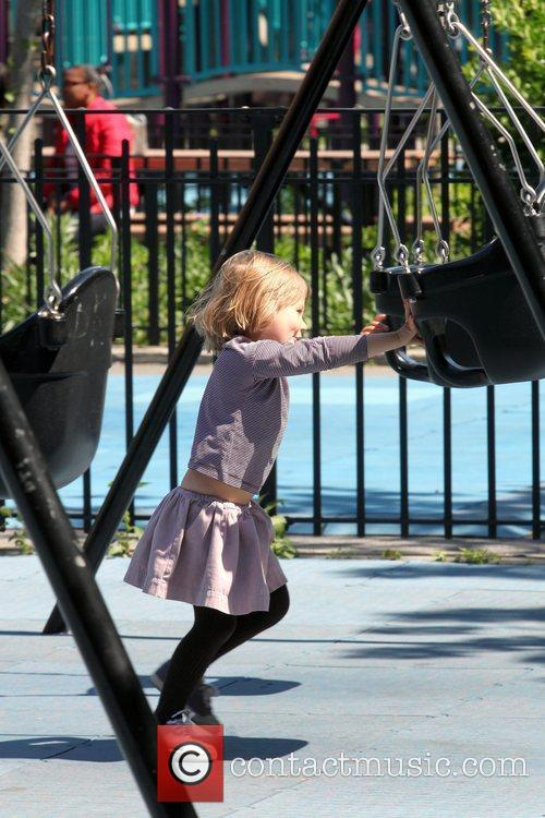 Matilda Ledger Enjoying A Sunny Day Playing At A Brooklyn Park With Her Mother 6