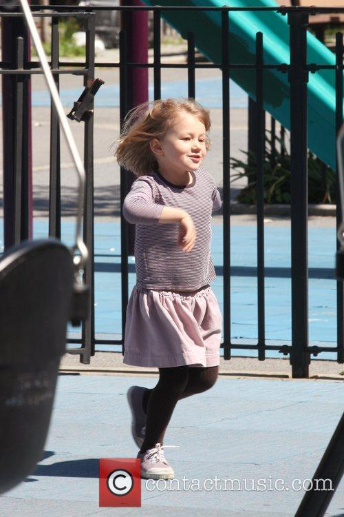 Matilda Ledger Enjoying A Sunny Day Playing At A Brooklyn Park With Her Mother 7