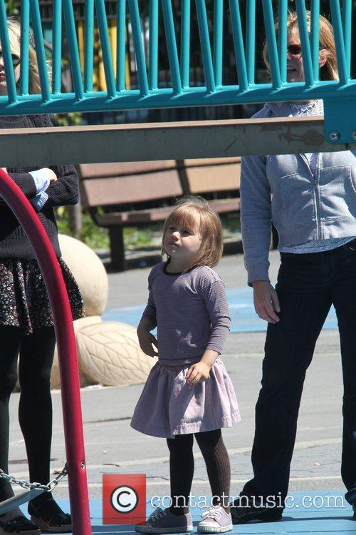 Matilda Ledger Enjoying A Sunny Day Playing At A Brooklyn Park With Her Mother 11