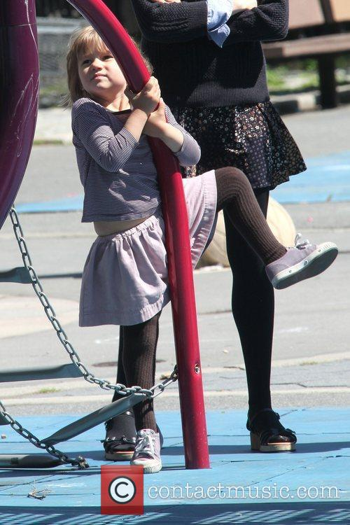 Matilda Ledger Enjoying A Sunny Day Playing At A Brooklyn Park With Her Mother 3