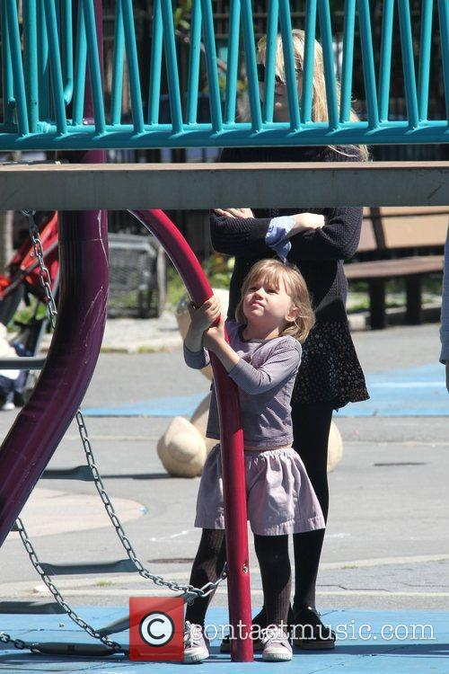 Michelle Williams and Daughter Matilda Ledger Enjoying A Sunny Day Playing At A Brooklyn Park 4