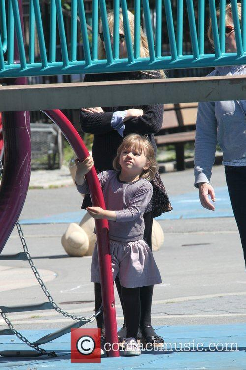 Michelle Williams and Daughter Matilda Ledger Enjoying A Sunny Day Playing At A Brooklyn Park 6