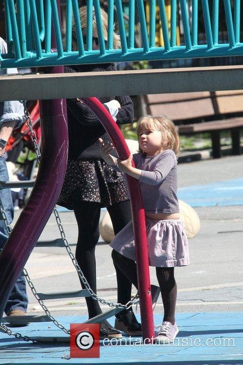 Michelle Williams and Daughter Matilda Ledger Enjoying A Sunny Day Playing At A Brooklyn Park 5
