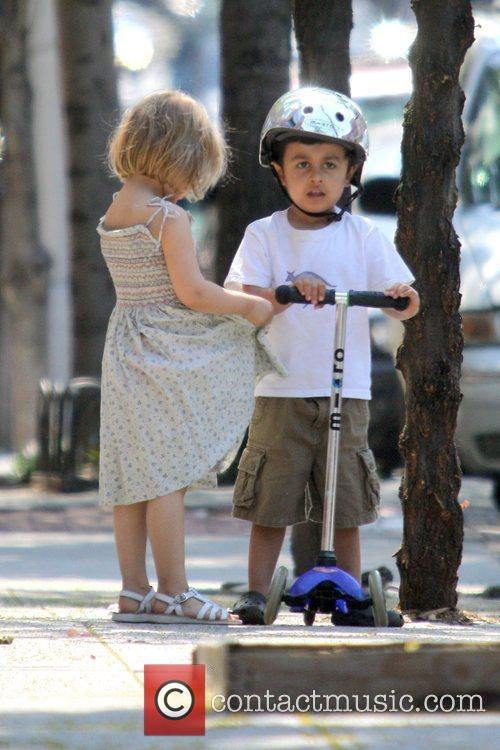 Matilda Ledger Goes For A Scooter Ride With Her Mother Michelle In Brooklyn 2