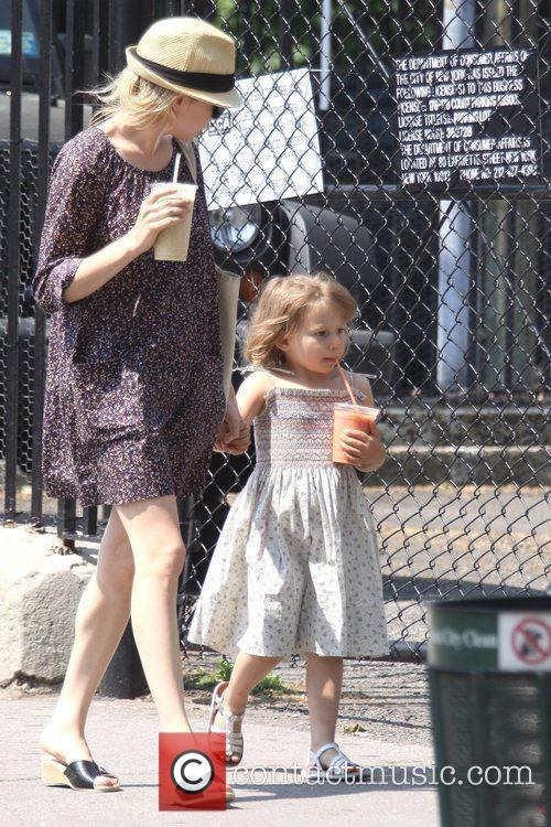 Michelle Williams and her daughter Matilda go out for a morning coffee in Brooklyn 7
