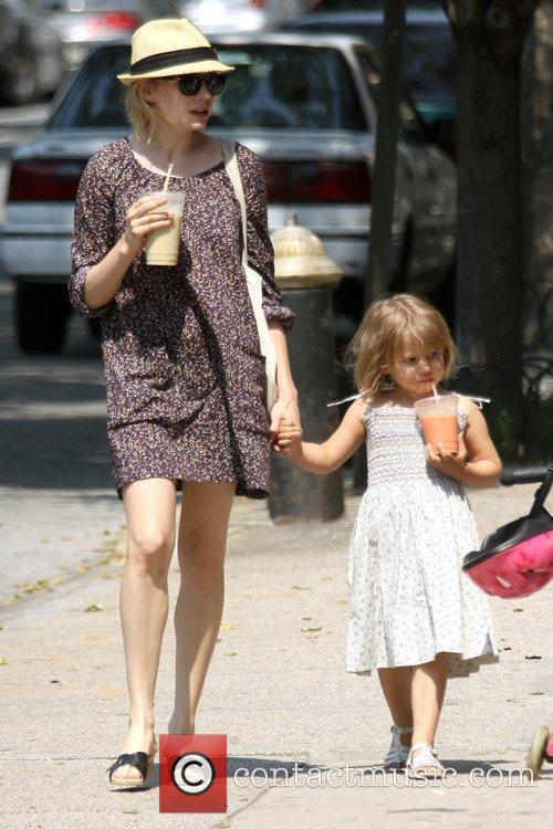 Michelle Williams and her daughter Matilda go out for a morning coffee in Brooklyn 1