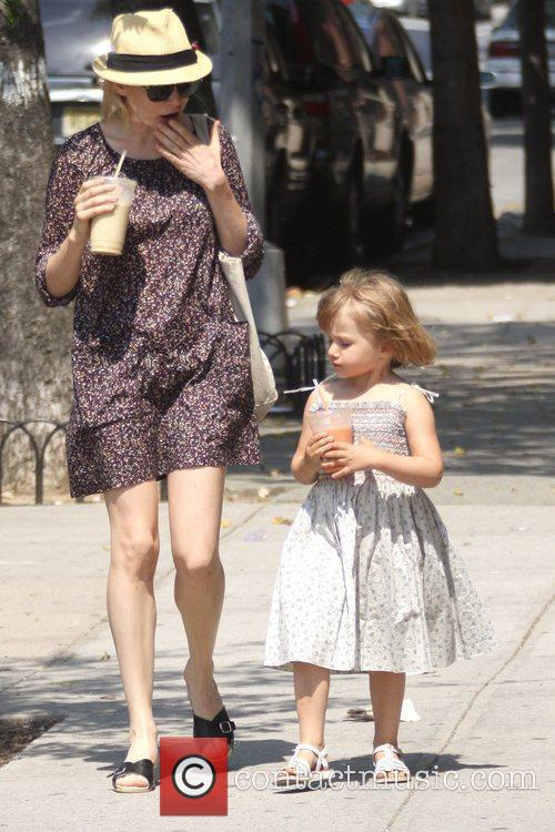 Michelle Williams and her daughter Matilda go out for a morning coffee in Brooklyn 8