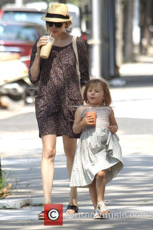 Michelle Williams and her daughter Matilda go out for a morning coffee in Brooklyn 6