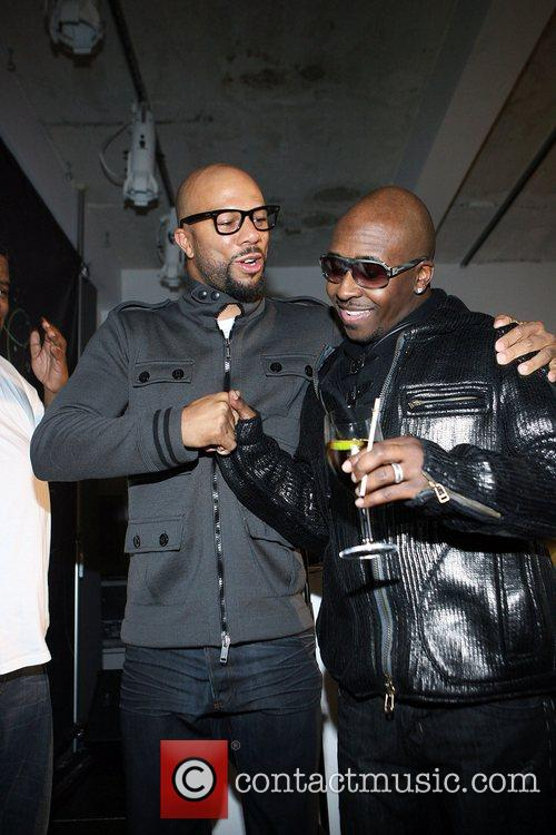 Common and Kwame  Microsoft celebrates the launch...