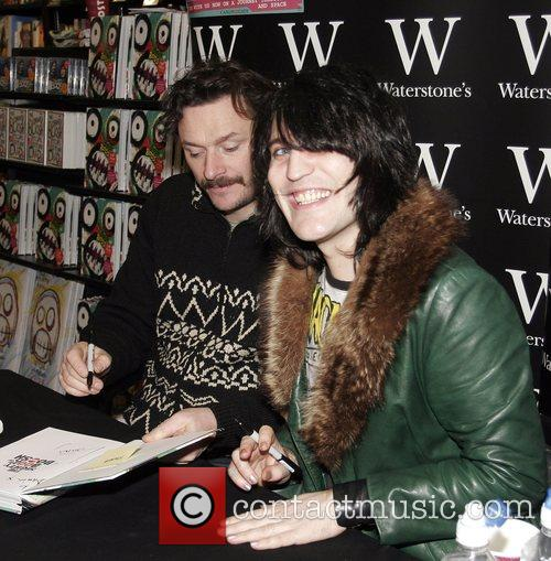 Sign copies of their new book at Waterstones...
