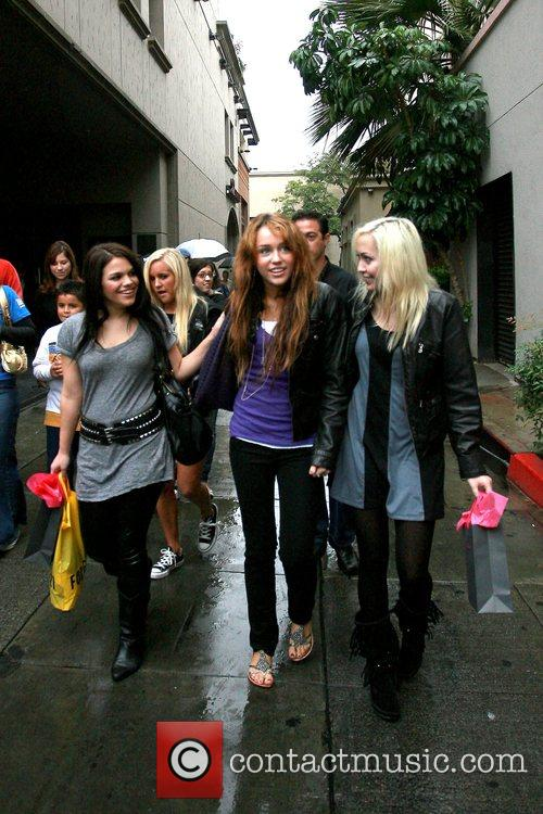 Out and about shopping with her friends