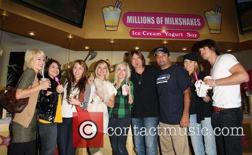 Miley Cyrus, Billy Ray Cyrus, Justin Gaston and...