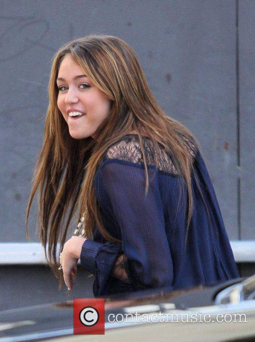 Miley Cyrus arrives to The Grove for a...