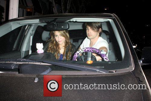 Miley Cyrus and Boyfriend Justin Gaston Leaving Koi Restaurant In West Hollywood 5
