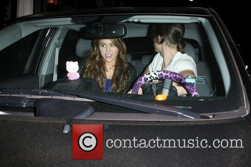 Miley Cyrus and Boyfriend Justin Gaston Leaving Koi Restaurant In West Hollywood 3