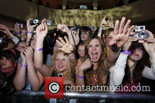 Miley Cyrus performing live at Goya Club