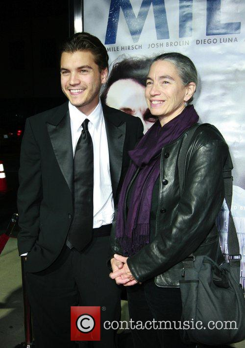 Emile Hirsch and mom Los Angeles premiere of...