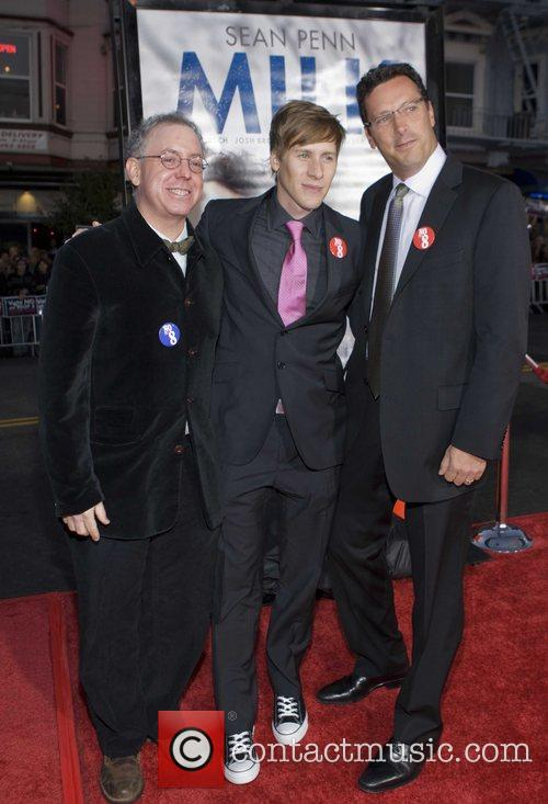 James Schamus, Dustin Lance Black and Andrew Karpen 5