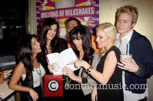 Kourtney Kardashian, Heidi Montag, Kim Kardashian and Perez Hilton 2