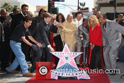 Motown Band 'The Miracles' receive the 2, 381st...