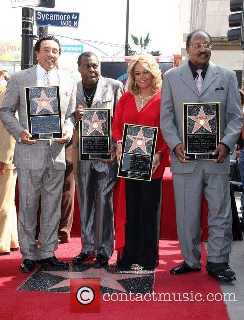 Smokey Robinson, Pete Moore, Claudette Robinson, Bobby Rogers, Star On The Hollywood Walk Of Fame and Walk Of Fame 2