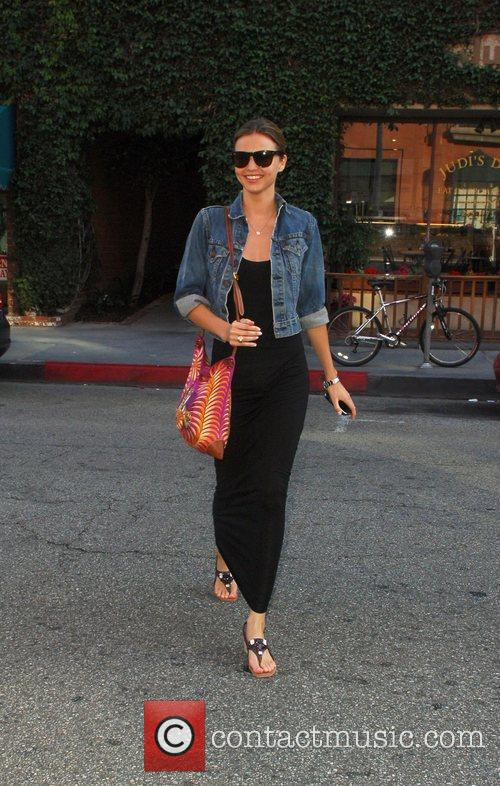 Miranda Kerr  leaving a nail salon Los...