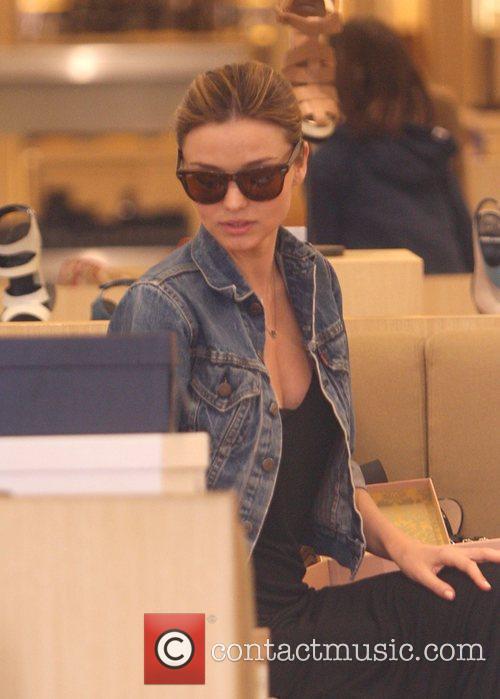 Miranda Kerr shopping for shoes at 'Barneys New...