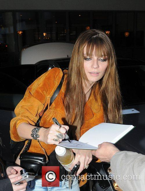 Mischa Barton leaving her hotel