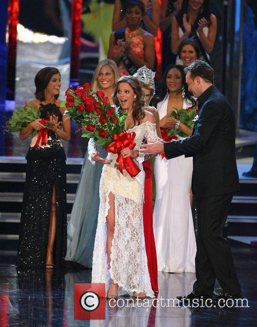 Is crowned Miss America at the 2009 Miss...