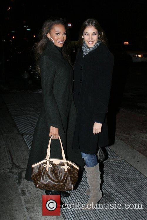 Miss USA 2008 Crystle Stewart and Miss Universe...