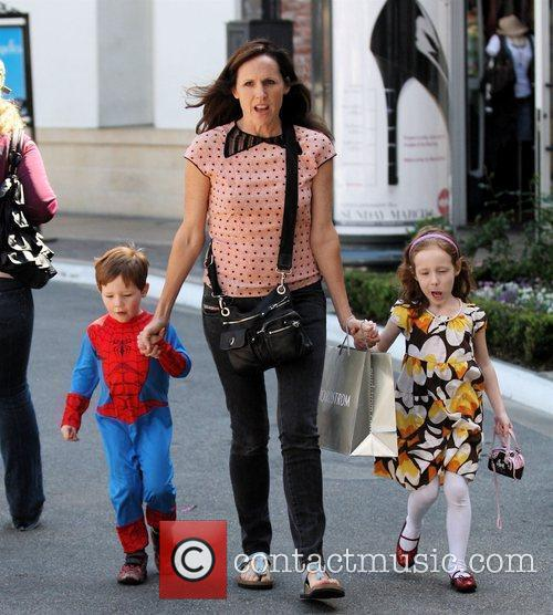 Molly Shannon takes her children Nolan, dressed as...
