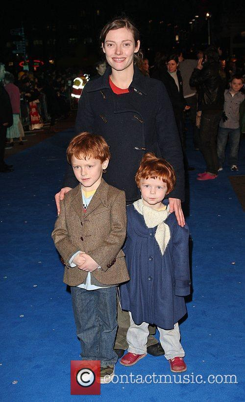 Camilla Rutherford with her children Monsters vs Aliens...