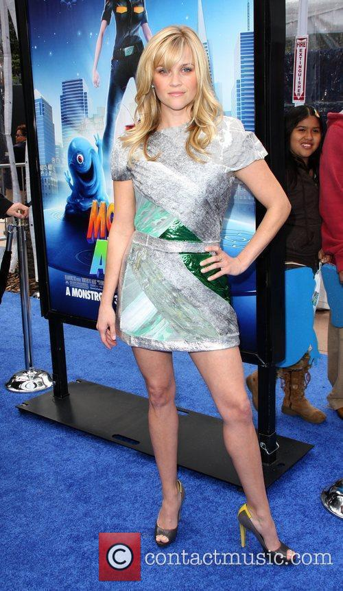 Reese Witherspoon Los Angeles premiere Monsters Vs Aliens...