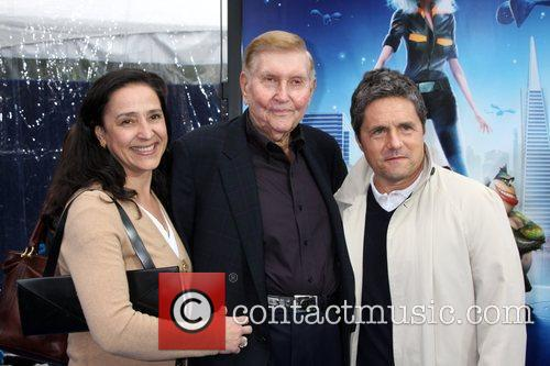 Sumner Redstone with his wife, and Brad Grey...