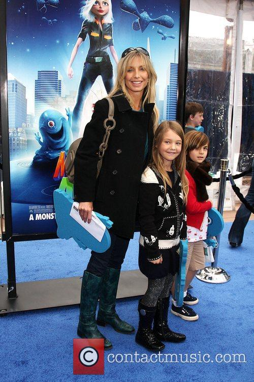 Heather Thomas with her daughter Los Angeles premiere...