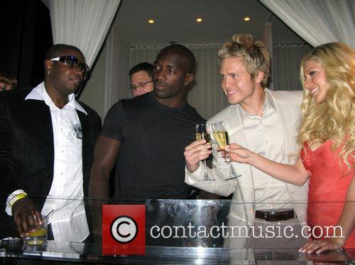 Heidi Montag and Spencer Pratt with guests spend...