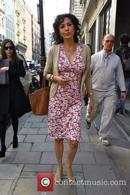 Marie Helvin seen arriving at the Mothers4Children charity...