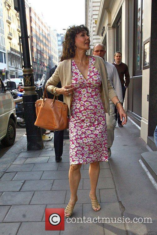 Seen arriving at the Mothers4Children charity lunch held...