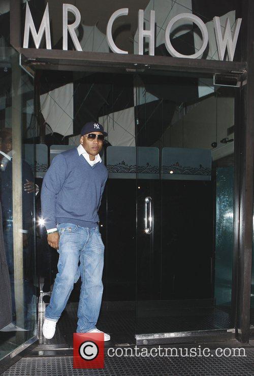 LL Cool J outside Mr Chow restaurant Los...