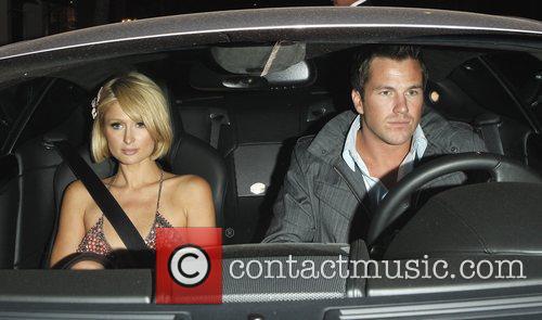 Paris Hilton and boyfriend Doug Reinhardt leave Mr...