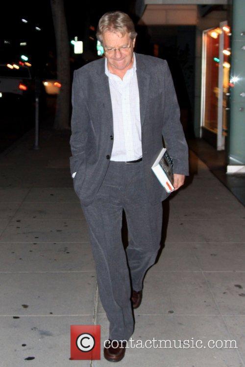 Jerry Springer outside Mr Chow restaurant Los Angeles,...