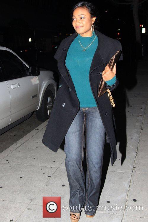 Tatyana Ali outside Mr Chow restaurant Los Angeles,...