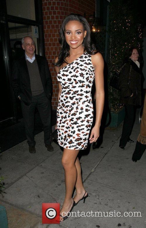 Attends an after party at Mr Chow restaurant...