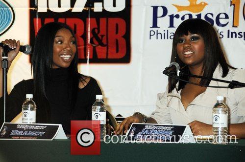 Brandy, Jazmine Sullivan 100.3 The Beat hosts the...