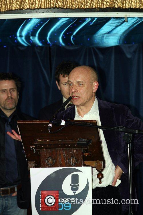 Brian Eno  accepts the Joe Meek Award...