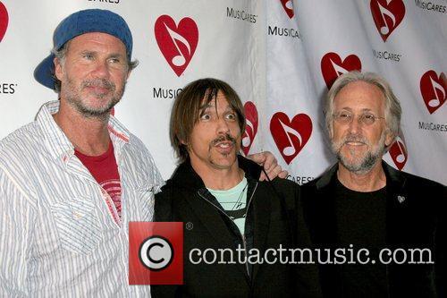 Chad Smith, Anthony Kiedis and Neil Portnow The...