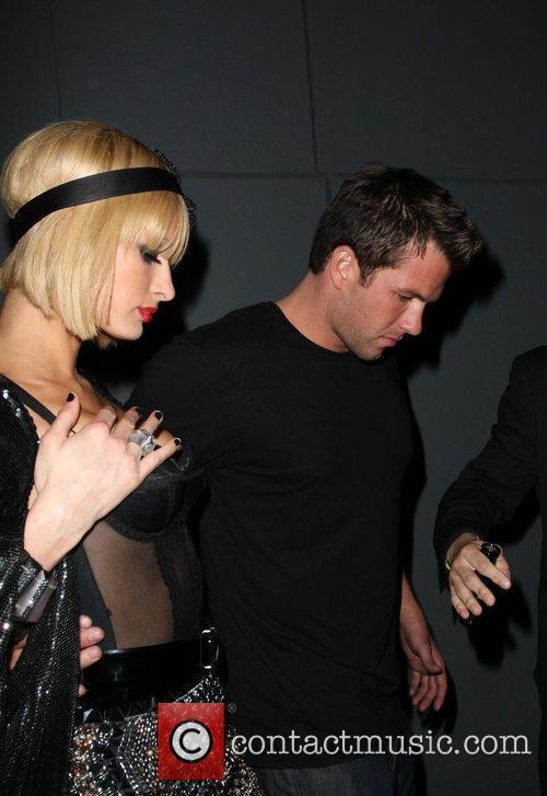 Paris Hilton and Doug Reinhartd leaving My House