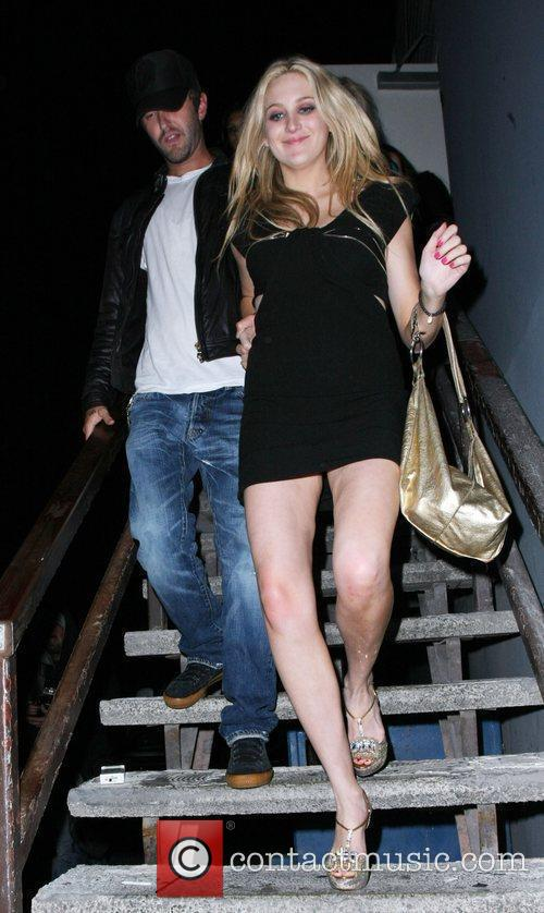 Stephanie Pratt and a male companion leaving My...