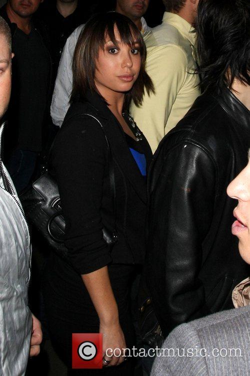 Cheryl Burke Celebrities arrive at My House nightclub...