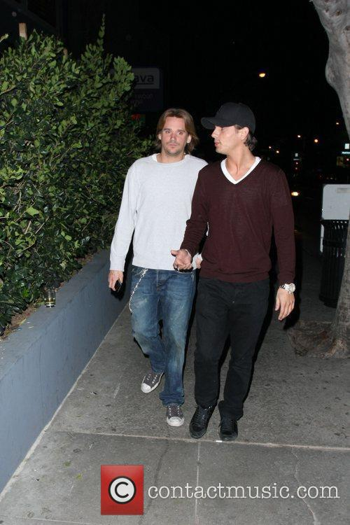 Sean Stewart and friend Celebrities arrive at My...